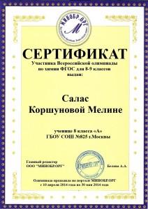 Салас Коршуновой Мелине