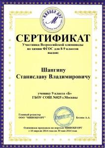 Шангину Станиславу Владимировичу